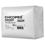 Chicopee Durawipe Heavy-Duty Industrial Wipers, 11.6 x 13, White, 1/4 Fold,40/Pack,5Pk/CT