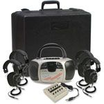 Califone 4-Person Learning Center, Silver/Black