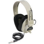 Califone Deluxe Stereo Headphones, Beige