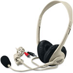 Califone Multimedia Headset, 3.5mm, Beige