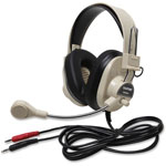Califone Rugged Headset, 2 3.5mm Plugs, Beige
