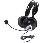 Califone Stereo Headset T Plug, Black