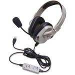 Califone Washable Headset w/USB Plug, Black