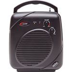 "Califone PA System, Wireless, 7-1/10""Wx4""Dx9-4/5""H, Black"