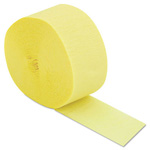 Cindus Crepe Streamers, 81ft, Yellow