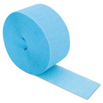 Cindus Crepe Streamers, 81ft, Light Blue