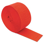 Cindus Crepe Streamers, 81ft, Flame Red
