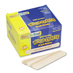 Chenille Kraft Natural Wood Craft Sticks, Jumbo Size