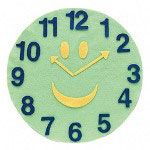 "Chenille Kraft Company Round Felt Clock Kit, 15"" Round, Assorted Colors"