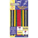 Chenille Kraft Company Wax Works Strips, Bright Hues Colors, 48 Pieces