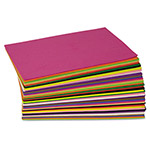 Chenille Kraft Company WonderFoam Peel & Stick Sheets, Assorted Colors, 8 1/2 x 5 1/2