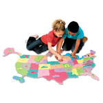Chenille Kraft WonderFoam® Giant U.S.A Puzzle Map, 73 Pieces