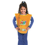 Chenille Kraft Company Bright Colors Vinyl Kraft Artist Smock, Fits Kids Ages 3 - 8