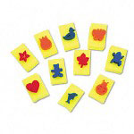Chenille Kraft Company Sponge Stamps, Integrated Handle, 10 Stamps