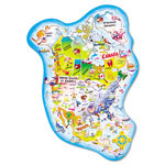 Chenille Kraft Company Giant North America Map Floor Puzzle