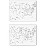 "Chenille Kraft Company Whiteboard, USA Map, Lg, 23-5/8"" x 18"", 2-Sided, 10/CT, WE"
