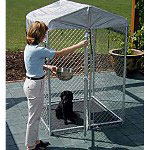 "Jewett Cameron Hi Rise Box Kennel 6' x 4"" x 4'"