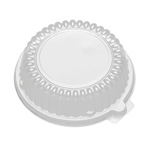 "D&W Finepack CaterLuxe 10, 12 oz. Rim Bowl Lid/6"" Plate High Dome Lid"
