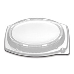 "D&W Finepack 11"" × 8"" Oval Platter Dome Lid"
