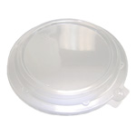 "D&W Finepack 16, 28 oz. Rim Bowl Low Dome Lid/ 8"" Plate Lid"