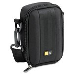 Caselogic Medium Camera/Flash Camcorder Case, Polyester/EVA, 3-3/4 x 2-1/4 x 5-3/4, Black