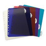 C-Line 5-Tab Index Tabs, Assorted Colors