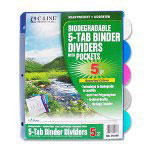 C-Line Biodegradeable Sheet Dividers, Assorted Colors