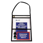 "C-Line Shop Ticket Holders, w/ Hanging Strap, 9""x12"", 15/PK, Clear"