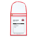 C-Line 1-Pocket Shop Ticket Holder w/Strap and Red Stitching, 75-Sheet, 9 x 12, 15/Box
