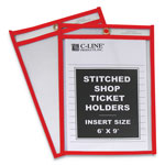 "C-Line Stitched Shop Ticket Holders, Top Load, Super Heavy, 6"" x 9"" Inserts, 25/Box"