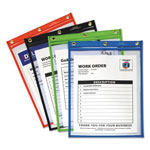 C-Line Heavy-Duty Super Heavyweight Plus Shop Ticket Holders, Assorted, 12 x 9, 20/BX