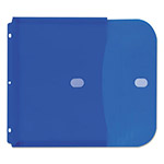 C-Line Poly Binder Pockets, 11 1/2 x 9 1/4, Blue, 5/Pack