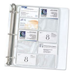 C-Line Business Card Protectors, Fits 3 Ring Binders, 200 Card Cap., 10 Pgs/Pack