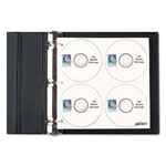 "C-Line 61938 Black CD/DVD 2"" D-Ring Binder Kit, 3w x 11 1/2d x 12 3/8h, Black"