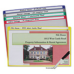 C-Line Write-On Project Folders, Legal, Assorted Colors, 25/BX