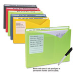 "C-Line Write-On Expanding Poly File Folders, 1"" Exp., Letter, Assorted Colors, 10/BX"