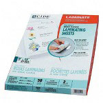 "C-Line Laminating Sheets, 9""x12"", 2/Pack, Clear Sheets"