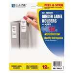 "C-Line Self Adhesive Ring Binder Labels, 1 3/4 x 2 3/4, 2"" Binder Cap., Cl. 12/Pack"