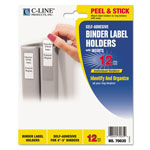 "C-Line Self Adhesive Ring Binder Labels, 2 1/4 x 3, 4"" 5"" Binder Cap., Cl. 12/Pack"