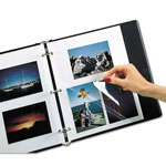 C-Line Redi Mount Photo Sheets, 3 Hole Punched, 11 x 9, 50 Sheets per Box