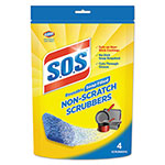 S.O.S. Non-Scratch Soap Scrubbers, Blue, 4/Pack, 6 Packs/Carton