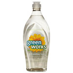 Green Works Natural Dishwashing Liquid, Free & Clear, 22 Oz Bottle