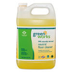 Green Works Neutral Floor Cleaner Concentrate, 1gal Bottle, 2/carton
