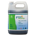 Green Works Glass Cleaner Concentrate, Light Citrus, 1gal Bottle, 2/carton