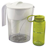 Brita Classic Pour-Through Pitcher, 48oz, w/Bonus 16oz Water Bottle, 4/Carton
