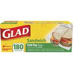 "Glad Plastic Sandwich Bags, 6.5"" x 5.5"", 12 Boxes of 180"