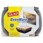 Glad SimplyCooking™ OvenWare 9x12 Baking Containers, Black/Clear