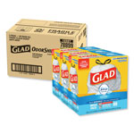Glad OdorShield Kitchen Drawstring Bags, Fresh Clean, 13 gal, White, 80/BX, 3 BX/CT