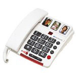ClearPrint Clear Sounds Photo Memory Dial Amplified Phone w/Digital Answering Machine
