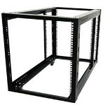 Startech 12U 4 Post Server Equipment Open Frame Rack With Adjustable Posts & Casters - Rack - 12U